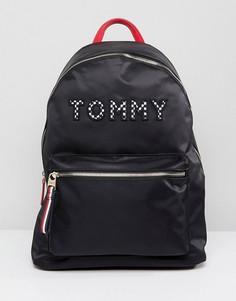 Рюкзак с логотипом и шахматным узором на лямках Tommy Hilfiger - Темно-синий