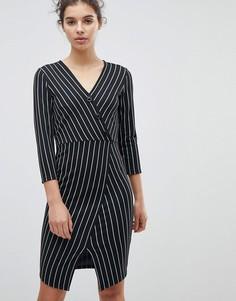 Облегающее платье с асимметричным подолом Miss Selfridge - Мульти