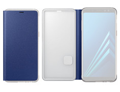 Аксессуар Чехол-книжка Samsung Galaxy A8 2018 Neon Flip Cover Blue EF-FA530PLEGRU