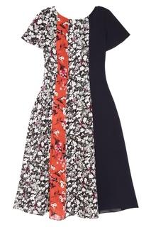 Платье с комбинированным принтом Acne Studios