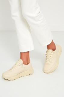 Бежевые кроссовки из кожи Hts74