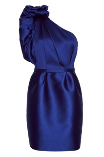 Синее асимметричное платье из хлопка Stella Mc Cartney