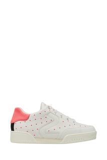 Белые кроссовки с розовыми точками Stella Mc Cartney