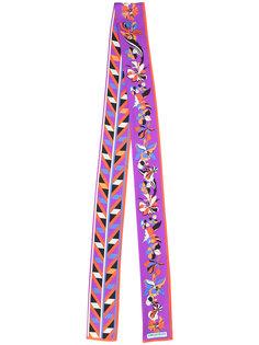 узкий шарф с цветочным рисунком Emilio Pucci