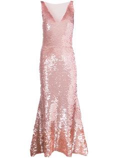 платье с пайетками  Oscar de la Renta