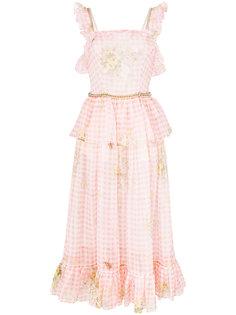платье в клетку гингем с отделкой цепочками Christopher Kane