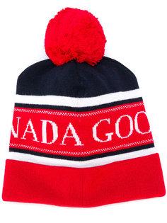 шапка вязки интарсия с логотипом Canada Goose