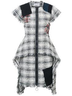 твидовое платье в стиле пэчворк на молнии Sonia Rykiel