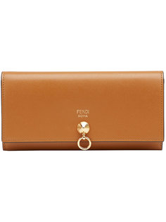 удлиненный кошелек с заклепкой Fendi