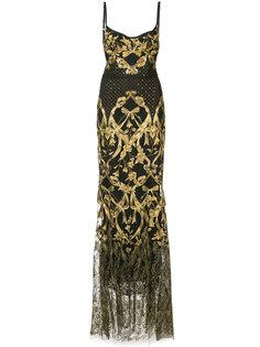 платье-корсет с вышивкой  Marchesa Notte