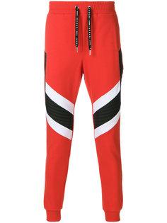 спортивные брюки с контрастными панелями Les Hommes Urban