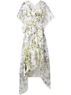 полосатое платье из органзы с цветочным рисунком Dvf Diane Von Furstenberg