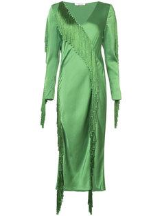 платье с V-образным вырезом и бахромой Dvf Diane Von Furstenberg