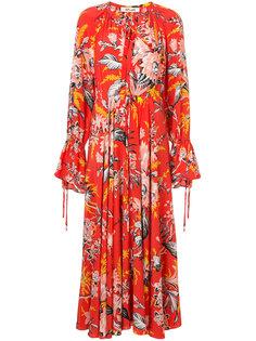 длинное платье с цветочным рисунком Dvf Diane Von Furstenberg