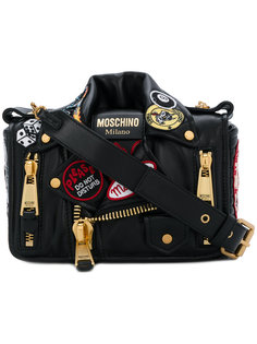 сумка с дизайном байкерской куртки Moschino