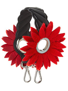Mini Strap You flower-embellished shoulder strap Fendi