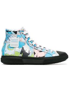 кроссовки с комическим принтом Prada