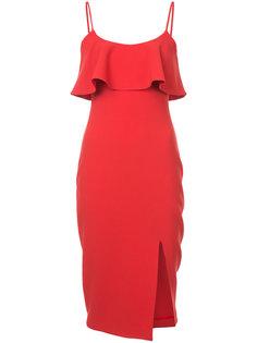 платье на бретелях с оборкой на лифе Likely