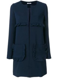 пальто прямого кроя с рюшами  P.A.R.O.S.H.