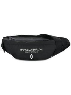 поясная сумка с логотипом Marcelo Burlon County Of Milan