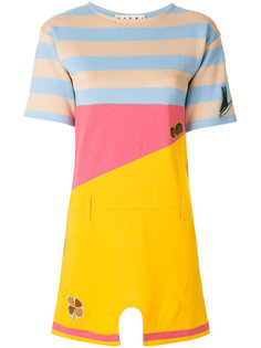 """короткое платье-футболка дизайна """"колор-блок"""" Marni"""