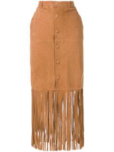 длинная юбка с бахромой Twin-Set