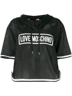 баскетбольная футболка с капюшоном Love Moschino