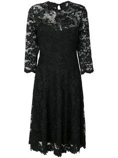 расклешенное платье с кружевной вышивкой  Olvi´S