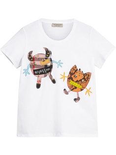 футболка с отделкой Creature Burberry