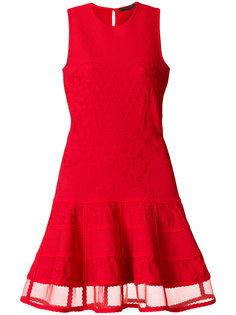 трикотажное платье без рукавов  Alexander McQueen