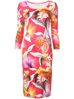 платье по фигуре с рисунком с перьями Mary Katrantzou