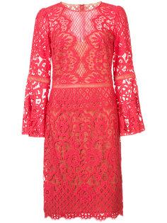 гипюровое платье длины миди Tadashi Shoji