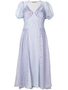 платье с полосатым узором Ermanno Scervino