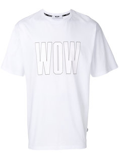 Wow print T-shirt MSGM