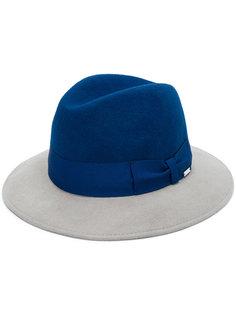 двухцветная шапка-федора с бантом Woolrich
