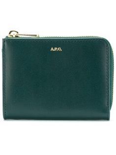 кошелек с логотипом A.P.C.