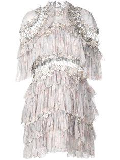 платье с цветочным декором Zimmermann