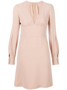 платье с глубоким V-образным вырезом Nº21