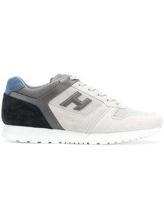 кроссовки дизайна колор-блок Hogan