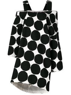 платье с принтом и открытыми плечами  Junya Watanabe Comme Des Garçons