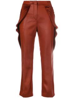 укороченные брюки  с плиссировкой Marco De Vincenzo