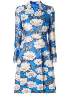 двубортное жаккардовое пальто с цветочным узором  Dolce & Gabbana