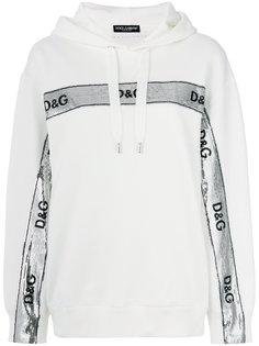 толстовка с логотипом и пайетками  Dolce & Gabbana