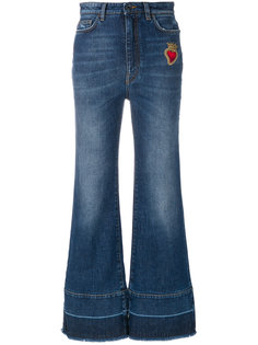 джинсы клеш с аппликацией  Dolce & Gabbana