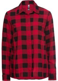 Блузка (темно-красный/черный в клетку) Bonprix