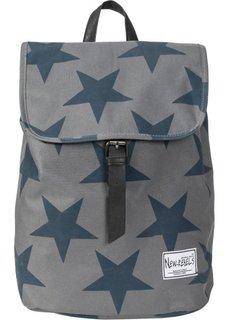 Рюкзак со звездами (серый/темно-синий) Bonprix