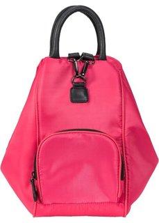 Сумка-рюкзак 2 в 1 (ярко-розовый гибискус/черный) Bonprix