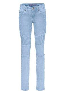 Джинсы Skinny с рельефными швами (нежно-голубой выбеленный) Bonprix