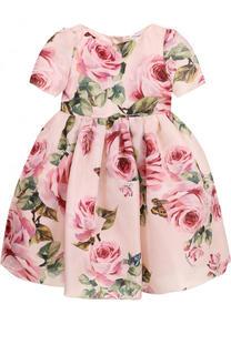 Шелковое платье с принтом Dolce & Gabbana