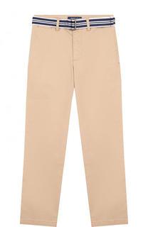 Хлопковые брюки с ремнем Polo Ralph Lauren